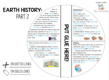 Earth History Guided Notes/Foldable