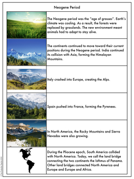 Earth History Reading Passages: Neogene Period