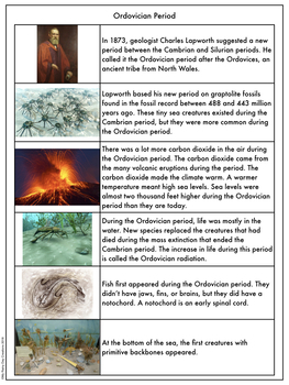 Earth History Reading Passages: Ordovician Period