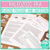 Earth History Reading Passages: Paleozoic Era