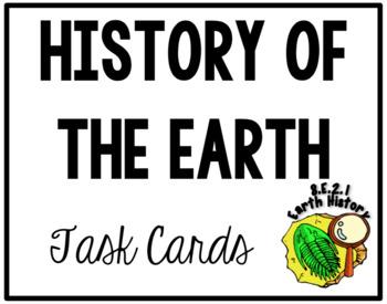 Earth History Task Cards (NCES 8.E.2.1)