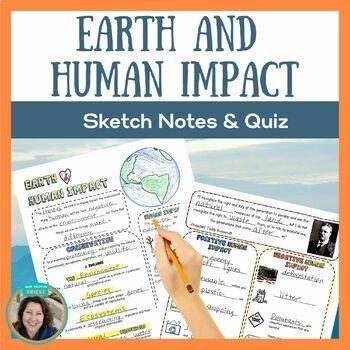 Earth & Human Impact Doodle Notes & Quiz