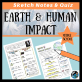 Earth and Human Impact Sketch Notes & Quiz