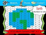 Earth Hundreds Chart to 120 - Watch, Think, Color Mystery