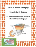 Earth Is Always Changing: Dynamic Earth Glossary