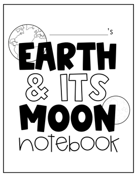 Earth & Its Moon Notebook