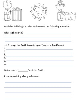 Earth Journal Freebie