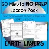 Earth Layers NO PREP Lesson