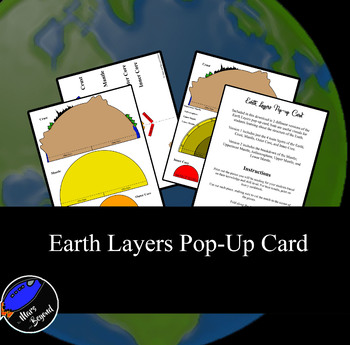 Earth Layers Pop Up Card
