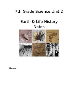 Earth & Life History Notebook Cover