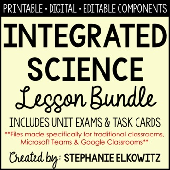 Integrated Science Supplemental Curriculum (NO LABS)