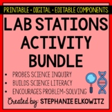 Earth, Life, Physical & Nature of Science Lab Stations Bundle