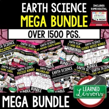 Earth, Life, Physical Science Integrated MEGA BUNDLE- Next Generation Science