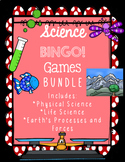 Earth, Life, and Physical Science Review BINGO! Games BUNDLE