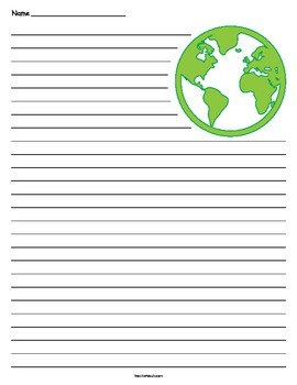 Earth Lined Paper