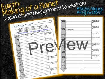 Earth Making of a Planet Movie Worksheet | Video Lab | Note Page