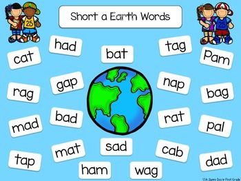 Earth & Martian Words {real and nonsense words}
