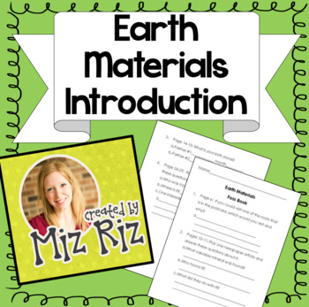 Earth Materials Introduction Activity *Supplement to the Foss Kit!*