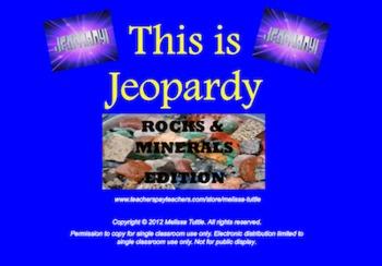 Earth Materials Jeopardy SMARTboard ~ Rocks,Minerals,Calci