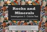 Earth Materials Rocks & Minerals - SMARTboard Calcite Investigation 3rd grade