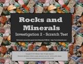 Earth Materials Rocks & Minerals SMARTboard Scratch Test Investigation 3rd grade