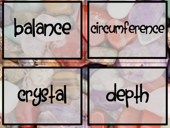 Earth Materials - Science Vocabulary Word Wall