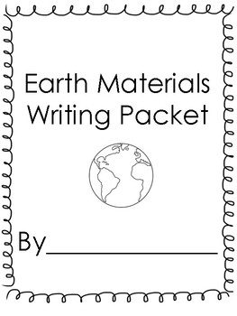 Earth Materials Writing Prompts! *Supplement to the Foss Kit!*