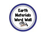 Earth Materials Word Wall Circles with Definition and Picture