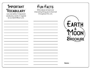 Earth & Moon Brochure plus Grading Rubric