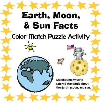 Earth, Moon, & Sun Color Match Classification Activity