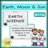 Earth Moon Sun Vocabulary Cards