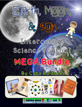 Earth, Moon, and  Sun Interactive Science/ Language Arts Journal Bundle