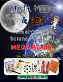 Earth, Moon, and  Sun Interactive Science/ Language Arts Journal Bundle