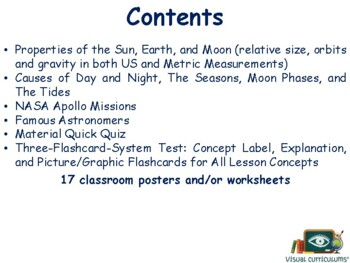 Earth, Moon, Sun Lesson & Flashcards - study guide, exam prep, 2017, 2018