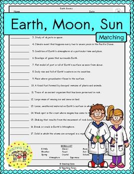 Earth Moon Sun Matching