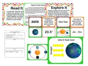Earth, Moon, Sun Relationship and Seasons Stations!