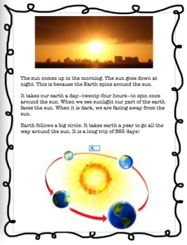 Earth, Moon, Sun Science Booklet