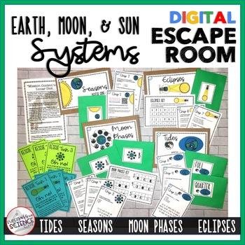 Earth, Moon, & Sun Systems Digital Escape Room