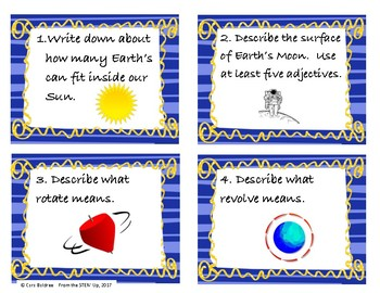 Earth, Moon, & Sun Task Cards