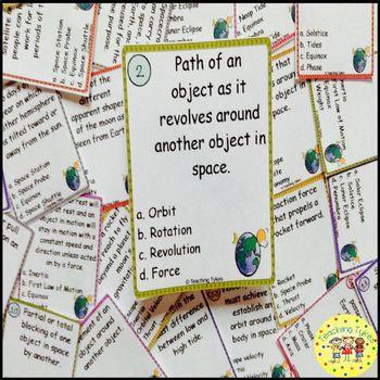 Earth Moon Sun Task Cards