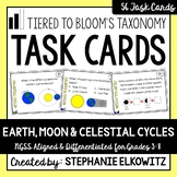 Earth, Moon and Celestial Cycles Task Cards (Differentiated and Tiered)