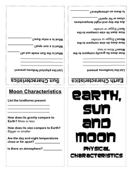 Earth, Moon and Sun Book