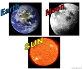Earth, Moon and Sun Choose Your Corner Activity