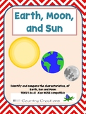 Earth, Moon, and Sun Comparisons....Text Pages, Comparison