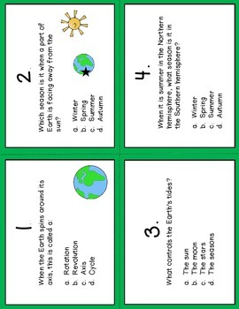 Earth, Moon, and Sun Cycles Interactive Notebook and Scoot Game