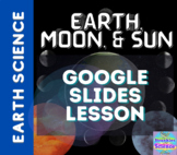 Earth, Moon, and Sun Google Slides! Distance Learning GSE S6E2