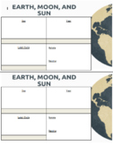 Earth, Moon, and Sun Graphic Organizer