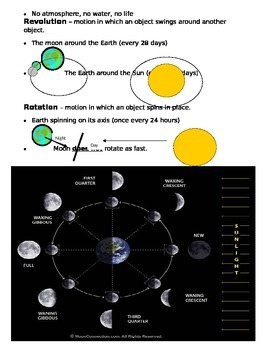 Earth, Moon, and Sun Study Guide