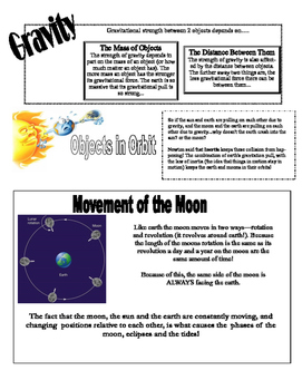 Earth Moon and Sun Study Guide