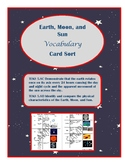 Earth, Moon, and Sun Vocabulary Card Sort- TEKS 5.8C&D ali